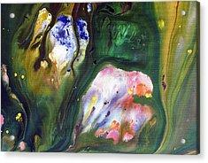 Fluid Acrylic Paint Acrylic Print by Sumit Mehndiratta