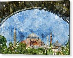 Hagia Sophia In Istanbul Turkey Acrylic Print by Brandon Bourdages