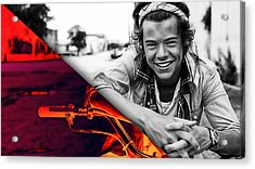 Harry Styles Collection Acrylic Print by Marvin Blaine
