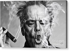 Jack Nicholson Collection Acrylic Print by Marvin Blaine