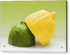12 Organic Lemon And 12 Lime Acrylic Print