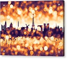 Paris France Skyline Acrylic Print by Michael Tompsett