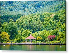 Scenery Around Lake Lure North Carolina Acrylic Print by Alex Grichenko