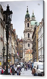 Streets Of Prague Acrylic Print by Andre Goncalves
