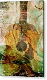 12 String Acrylic Print by Linda Sannuti
