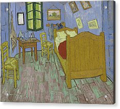 The Bedroom Acrylic Print by Vincent Van Gogh