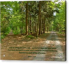 12- The Road Not Taken Acrylic Print
