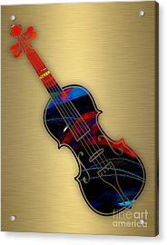 Violin Collection Acrylic Print by Marvin Blaine