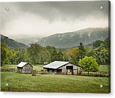1209-1116 - Boxley Valley Barn Acrylic Print by Randy Forrester