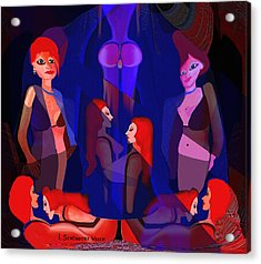 123 In The Harem A Acrylic Print by Irmgard Schoendorf Welch