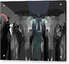 127 -  Nightwalkers Dark Acrylic Print by Irmgard Schoendorf Welch