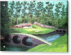 12th Hole At Augusta National Acrylic Print
