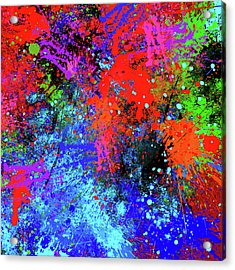 Acrylic Print featuring the painting Abstract Composition by Samiran Sarkar