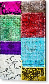 Colorful Textile Acrylic Print