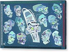 13 Crystal Skulls Acrylic Print