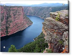 Flaming Gorge National Park Acrylic Print by Ellen Tully