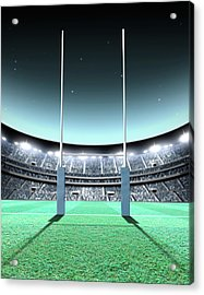 Floodlit Stadium Night Acrylic Print