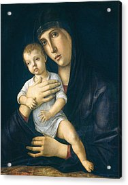 Madonna And Child Acrylic Print by Giovanni Bellini