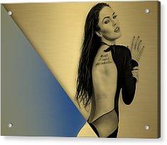Megan Fox Collection Acrylic Print by Marvin Blaine