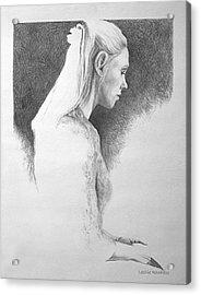 13 Reasons   Self Portrait Acrylic Print by Leslie Rhoades