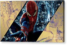 Spiderman Collection Acrylic Print by Marvin Blaine
