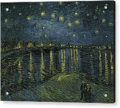 Starry Night  Acrylic Print by Vincent van Gogh