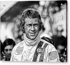 Steve Mcqueen Collection Acrylic Print by Marvin Blaine