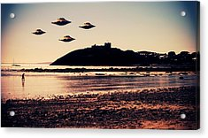 Ufo Sighting Acrylic Print by Raphael Terra