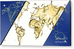 World Map Collection Acrylic Print