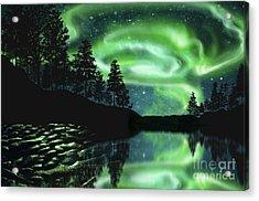 Acrylic Print featuring the photograph Aurora Borealis by Setsiri Silapasuwanchai