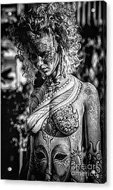 Bodypainting Acrylic Print by Traven Milovich