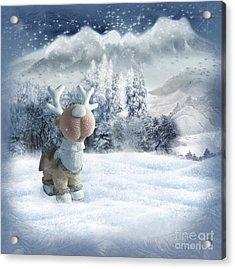 Christmas Card Acrylic Print by Dani Prints and Images