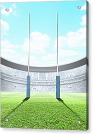 Floodlit Stadium Day Acrylic Print