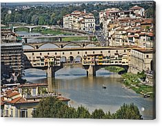 Acrylic Print featuring the photograph Florence Italy by Cendrine Marrouat