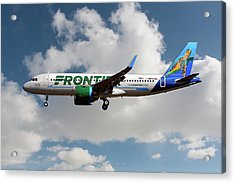 Frontier Airbus A320-251n Acrylic Print