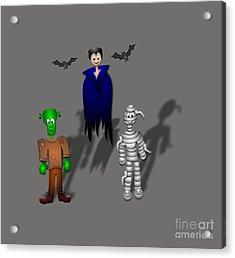 Halloween Acrylic Print by Frederick Holiday