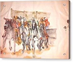 Il Palio Contrada  Lupa Album Acrylic Print