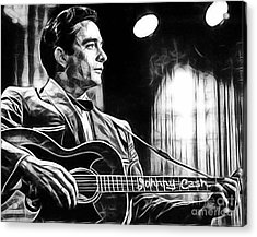 Johnny Cash Collection Acrylic Print