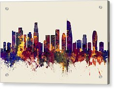 Los Angeles California Skyline Acrylic Print