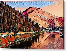 Mountains Landscape Acrylic Print