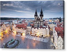Prague Old Town Square Acrylic Print by Andre Goncalves