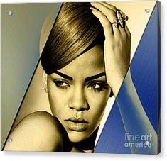 Rihanna Collection Acrylic Print by Marvin Blaine
