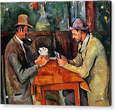 The Card Players Acrylic Print by Paul Cezanne