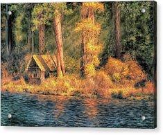 Metolius Autumn Acrylic Print