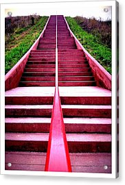 145 Steps To Monks Mound Acrylic Print by John McGarity