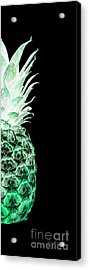 14kr Artistic Glowing Pineapple Digital Art Green Acrylic Print