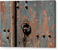 14th Century Door In France Acrylic Print by Marion McCristall