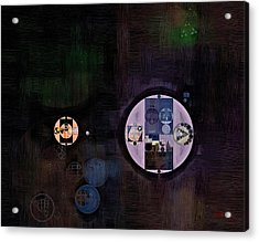 Abstract Painting - Smoky Black Acrylic Print by Vitaliy Gladkiy