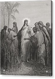 Engraving From The Dore Bible Acrylic Print