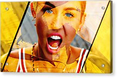 Miley Cyrus Collection Acrylic Print